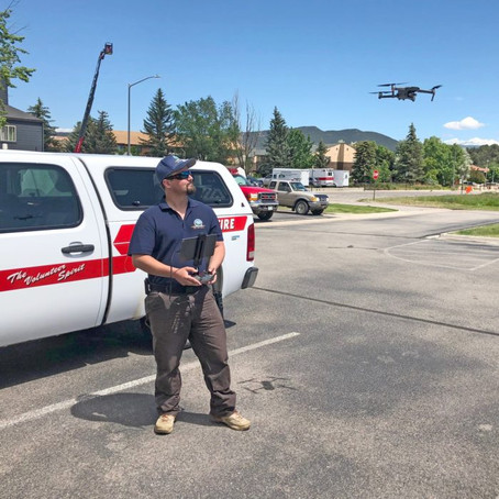 Drones Assisting Fire Departments