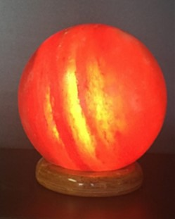 ball shaped usb lamp with alternating colours