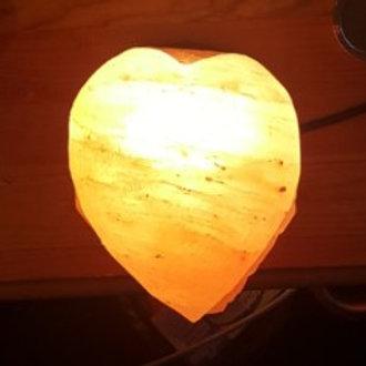 Heart Shaped Himalayan Salt Crystal