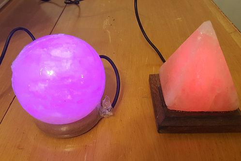 USB Pyramid Multi Colored Salt Lamp