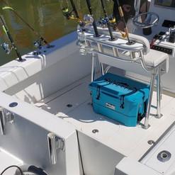 Blue SickleFin Fishing Cooler