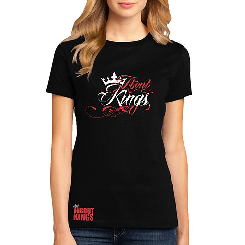 About Kings Women Lettering T-shirt