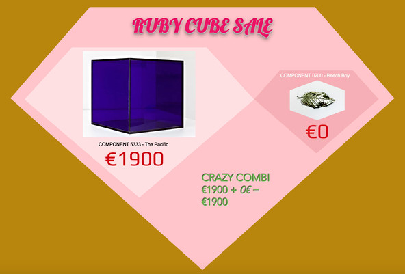 COMPONENT 2802 - Ruby Cube Sale