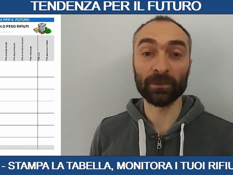 TENDENZA PER IL FUTURO - TABELLA MONITORAGGIO RIFIUTI