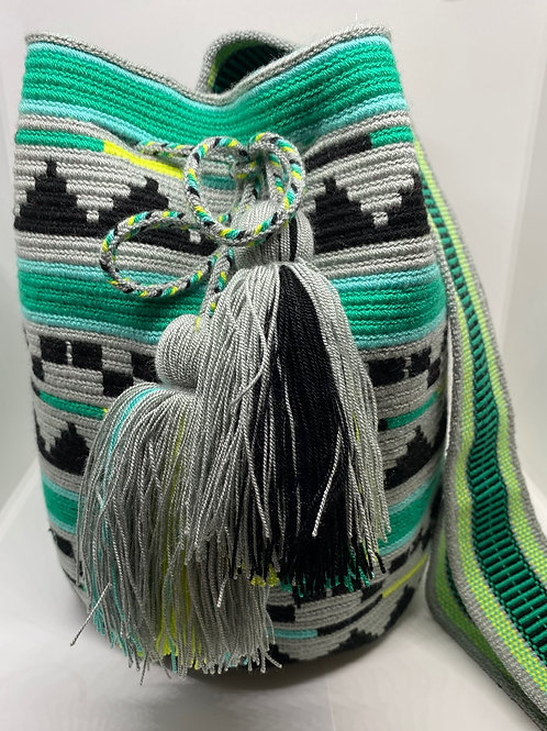 Green/Grey Wayuu Bag