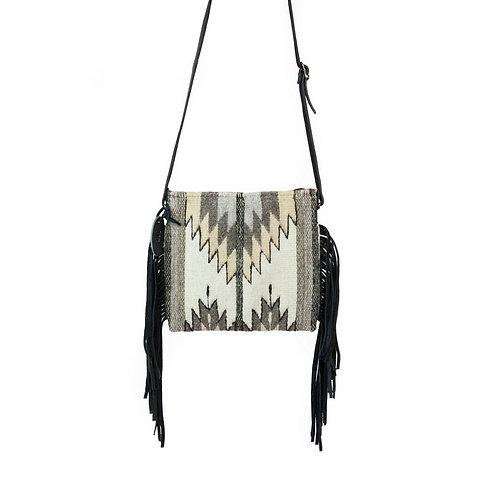 Natural Chevrons Palomita Fringe Bag