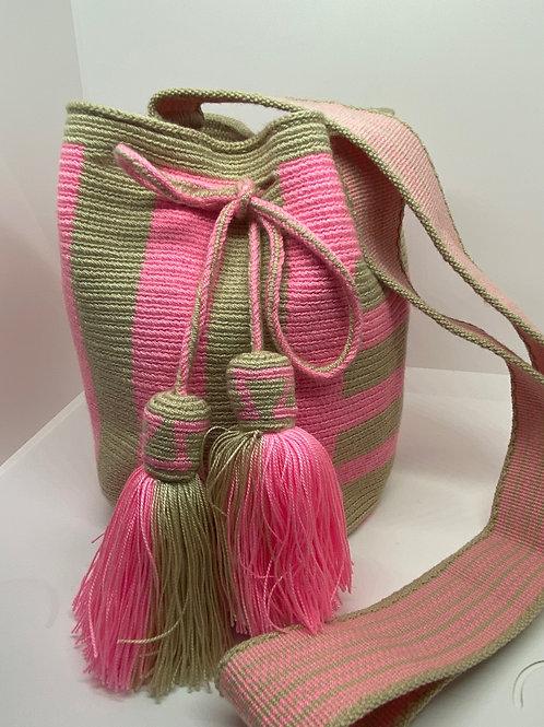 Flash Pink Small Wayuu Bag