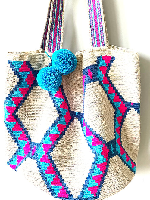 The Pink & Blue Tote Wayuu