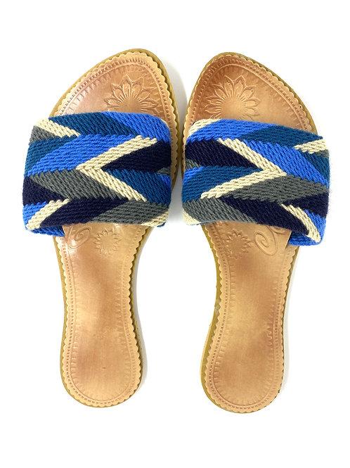 Wayuu Sandals Shades of Blue