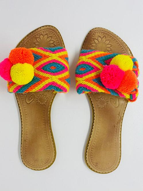 Wayuu Sandals Fluo
