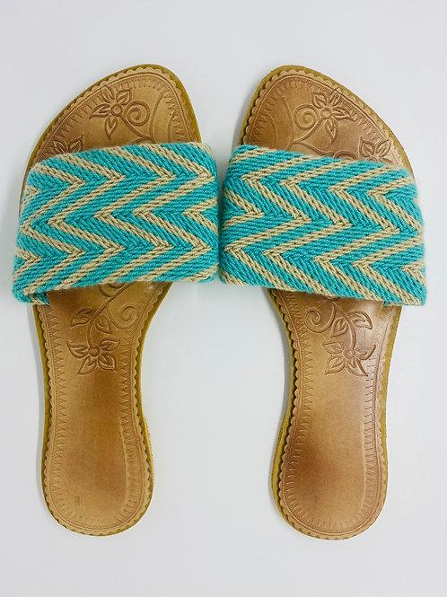 Wayuu Sandals Sea Blue