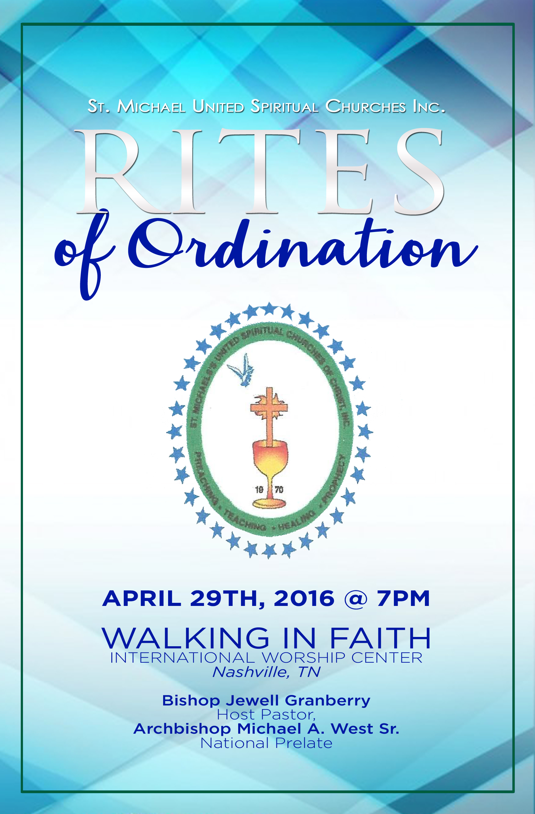 Rites Of Ordination Program Cover