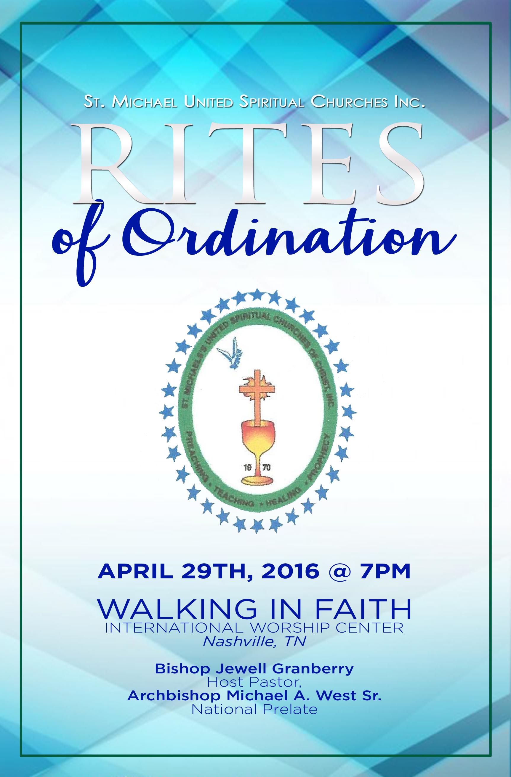 Rites Of Ordination Program Cover