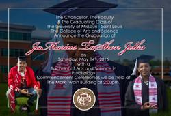 2016 Graduation Announcement