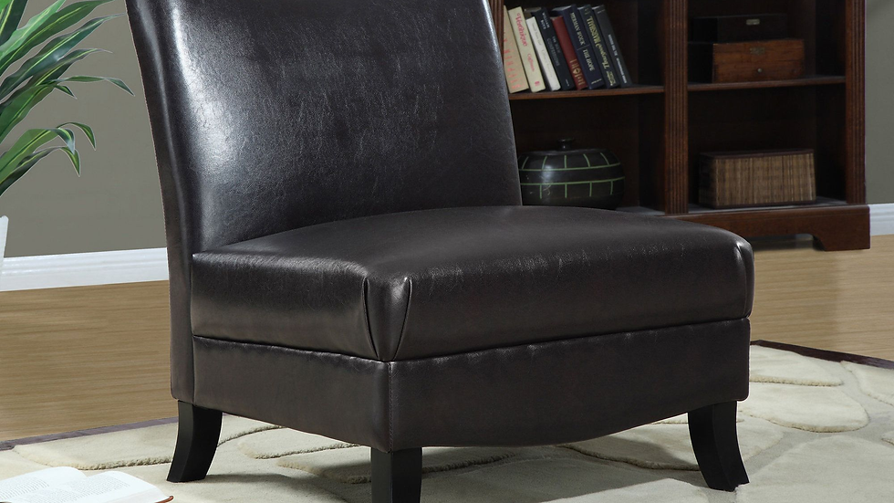Upholstered armless chair