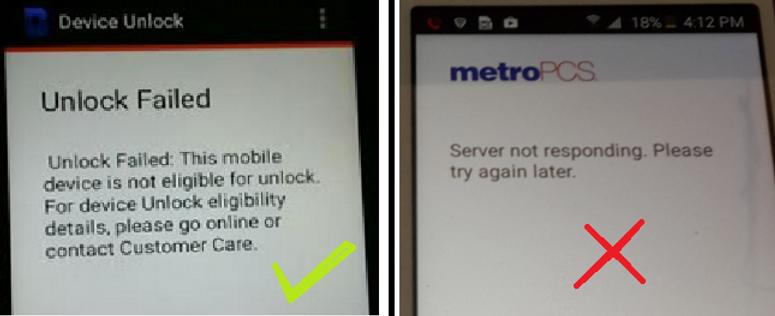 METROPCS DEVICE UNLOCK APP SERVICE - ALL PHONES