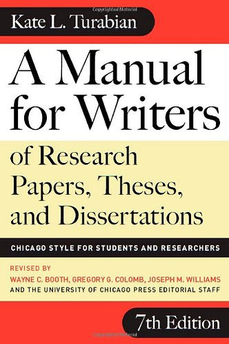 a manual for writer by turabian kate