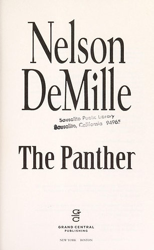 The Panther by DeMille Nelson