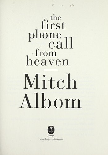 the first phone call from heaven by Albom Mitch