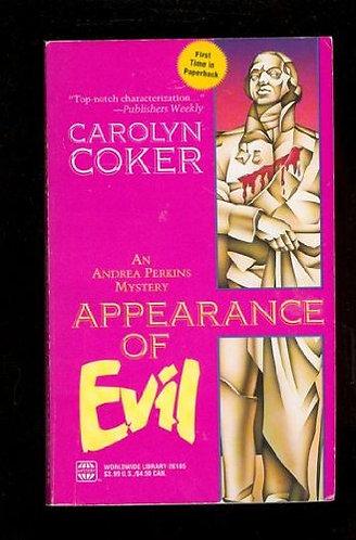 Appearance Of Evil by Coker Carolyn