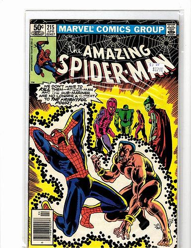 Amazing Spider-man V1 #215 VF (8.0)