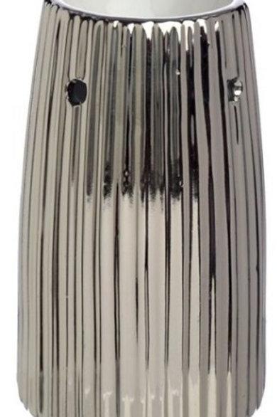 Silver Metallic Ridged Warmers