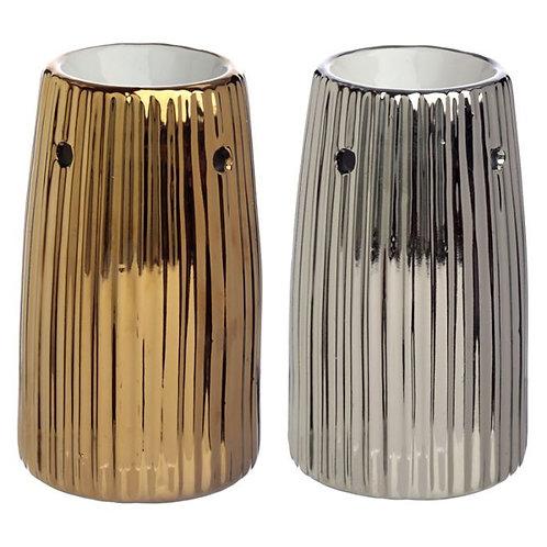 Gold Metallic Ridged Warmers