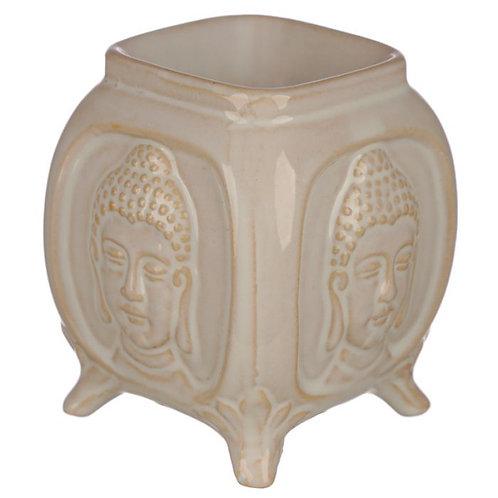 White Embossed Buddha Warmer