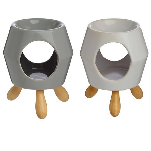 Abstract Ceramic Oil Burner with Feet