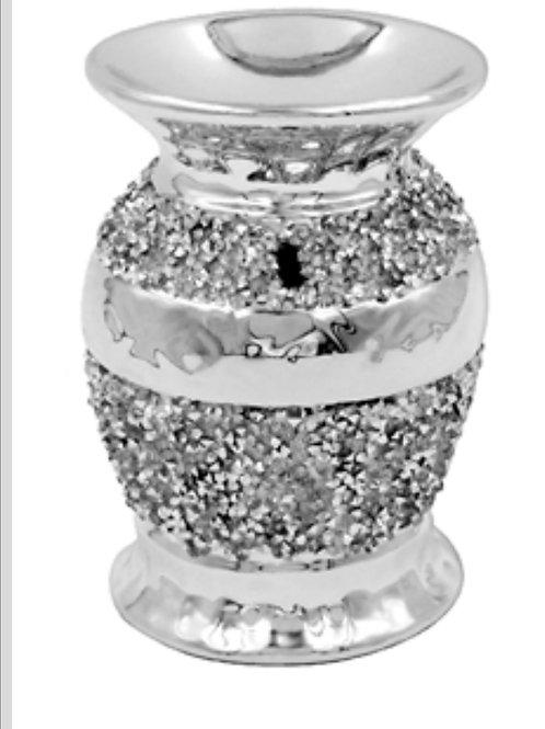 Silver Millie Crackle Mosaic Warmer