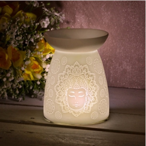 White Ceramic Buddha Warmer