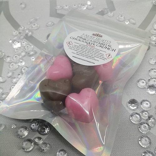 Pink Custard & Chocolate Crunch