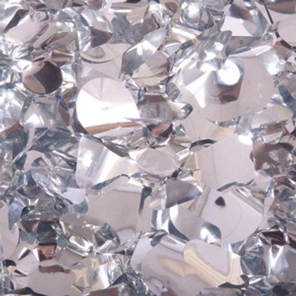 Metalic Silver Floral Sheeting