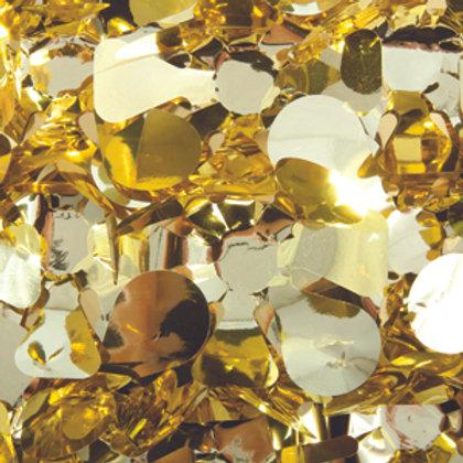Metalic Gold Floral Sheeting