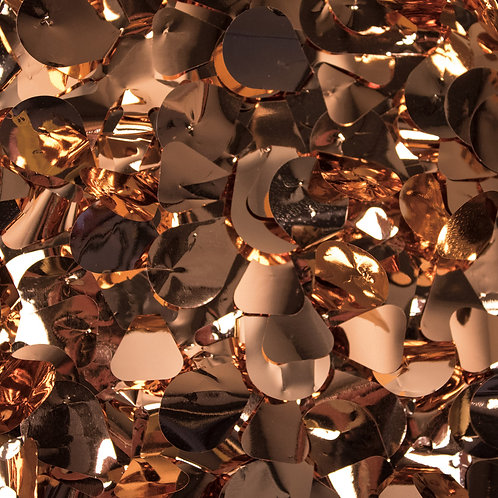 Metallic Copper Floral Sheeting