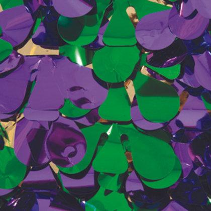 Metalic Mardi Gras Floral Sheeting