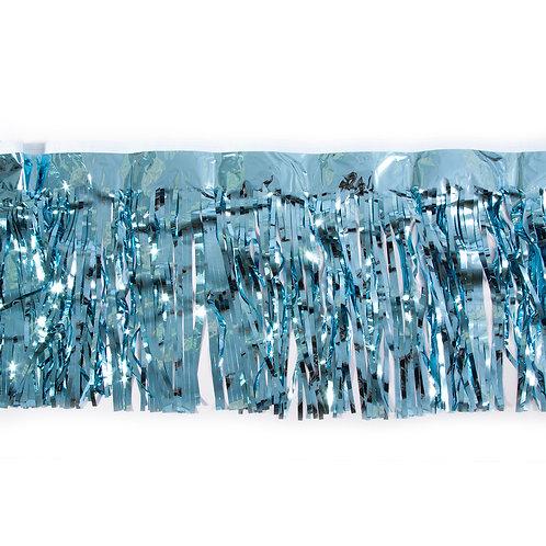 Metalic Turquoise Fringe 10 ft