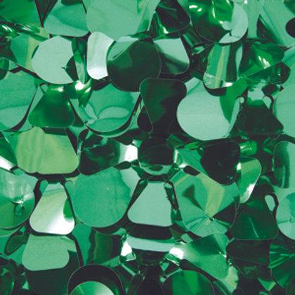 Metalic Green Floral Sheeting