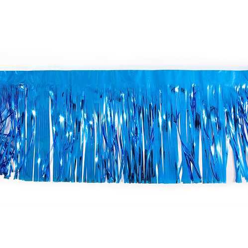 Metalic Blue Fringe 10 ft