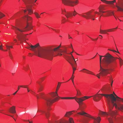 Metalic Red Floral Sheeting