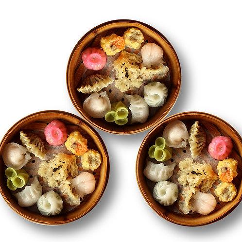 30/pc Meat Seafood Dim Sum Platter