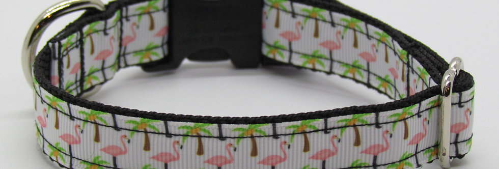 Small Flamingo Dog Collar