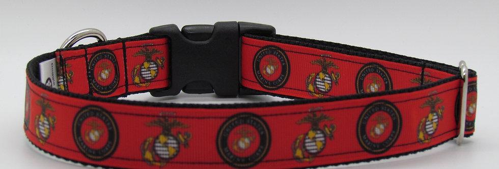 Red Marines Dog Collar