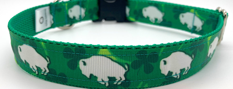 Exclusive Original Doggie Stylz Shamrock Buffalo Dog Collar