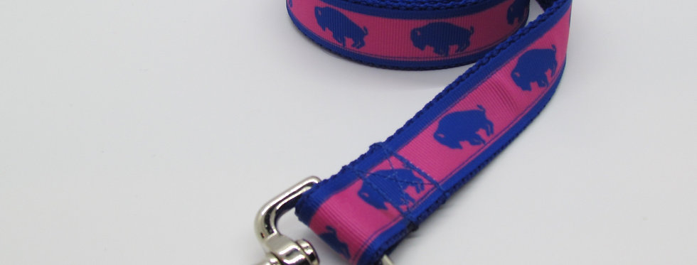Exclusive Original Doggie Stylz Pink Buffaloes Dog Leash