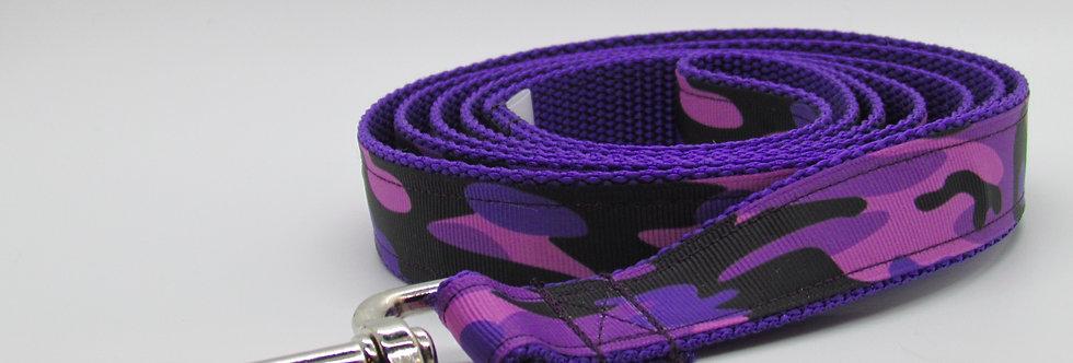 Purple Camouflage Dog Leash
