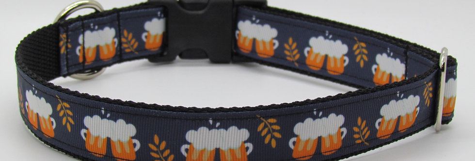 Beer Mugs (Blue) Dog Collar
