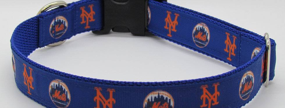 NY Mets Inspired Dog Collar