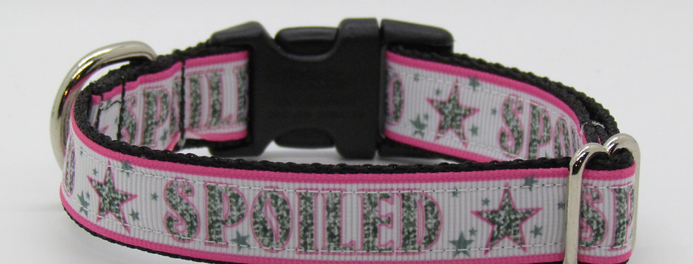 Small Spoiled (Pink) Dog Collar
