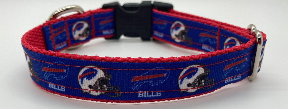 Small Buffalo Bills (Blue) Inspired Dog Collar
